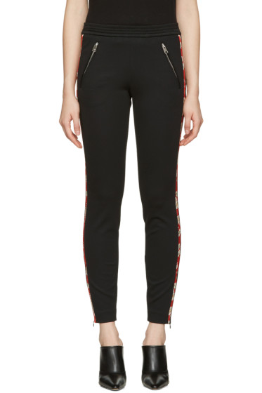 Alexander McQueen - Black Panelled Zip Trousers