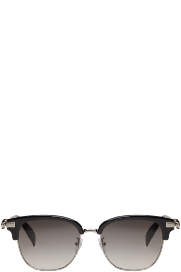 Alexander McQueen - Black Classic Club Sunglasses