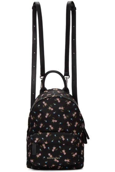 Givenchy - Black Nano Hibiscus Backpack