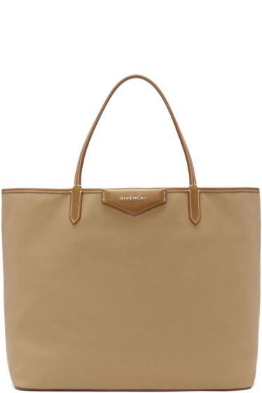 Givenchy - Beige Medium Antigona Shopping Tote Bag