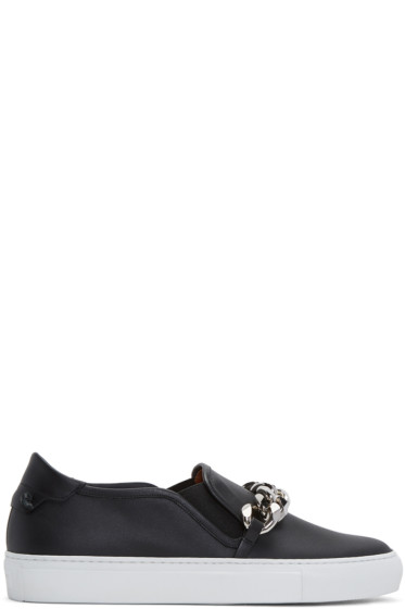 Givenchy - Black Chain Skate Slip-On Sneakers