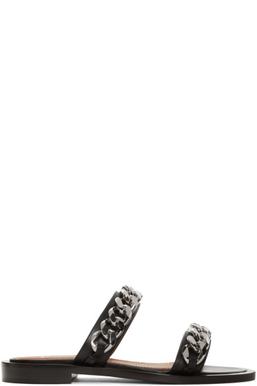 Givenchy - Black Two Chains Sandals