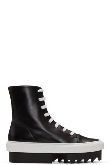Givenchy - Black Platform Skate High-Top Sneakers