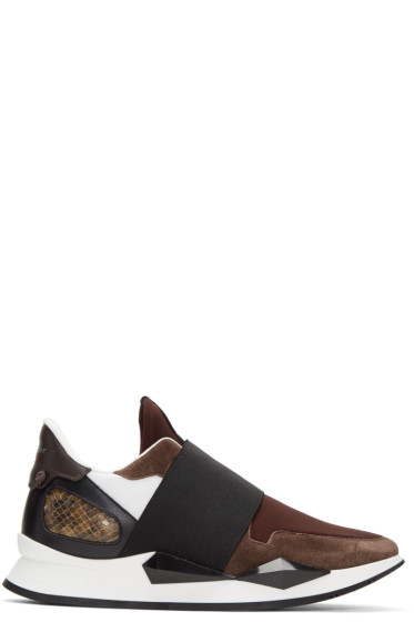 Givenchy - Burgundy Runner Slip-On Sneakers