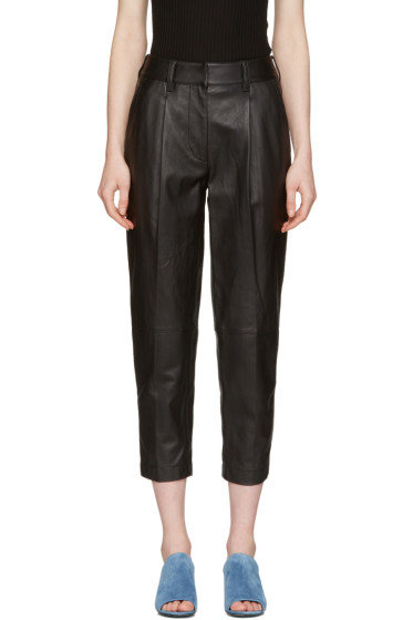 3.1 Phillip Lim - Black Leather Carrot Trousers