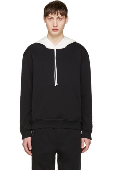 3.1 Phillip Lim - Black Zip Sleeve Contrast Hoodie