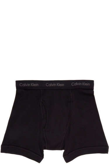 Calvin Klein Underwear - Three-Pack Black Boxer Briefs