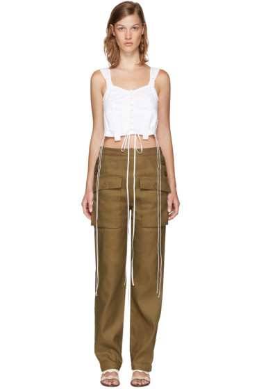 Chloé - White Cropped Lingerie Top