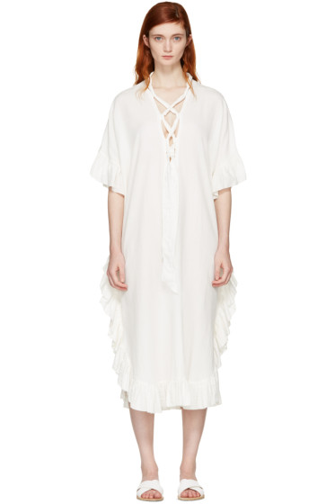 See by Chloé - White Cotton Ruffle Dress