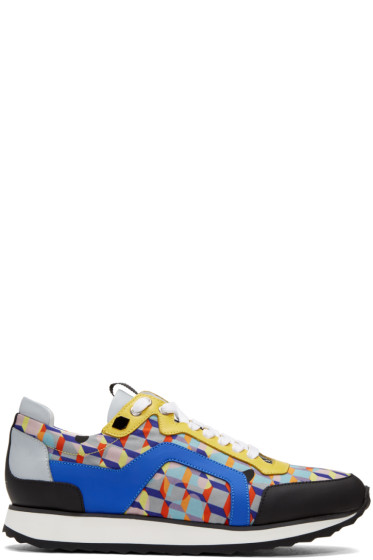 Pierre Hardy - Multicolor Camocube Track Sneakers