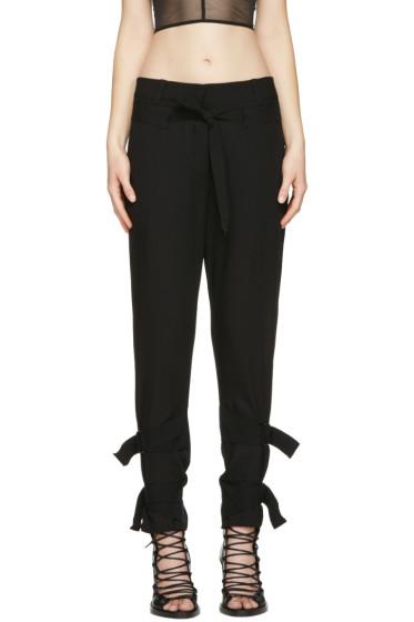 Ann Demeulemeester - Black Straps Trousers
