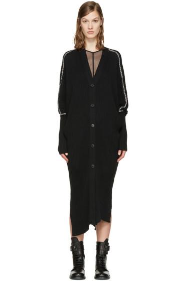 Ann Demeulemeester - Black Rib Knit Cardigan