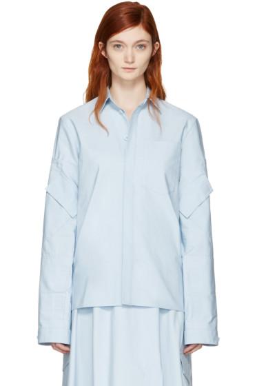Marni - Blue Cotton Pockets Jacket