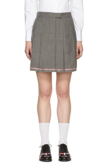 Thom Browne - Grey Pleated Miniskirt