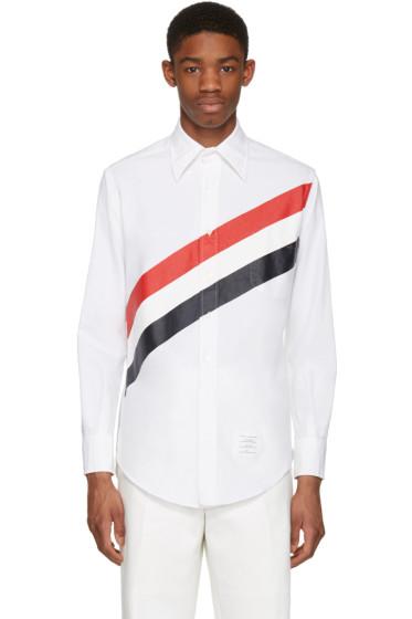 Thom Browne - White Diagonal Stripe Classic Shirt