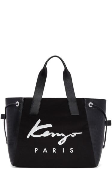 Kenzo - Black Large Logo Essentials Tote