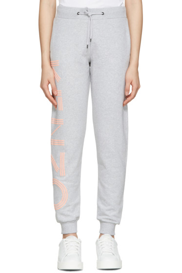 Kenzo - Grey Cotton Track Pants