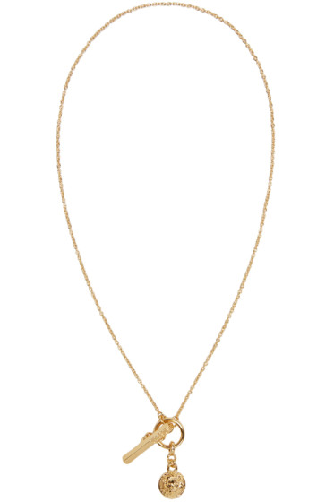 Versus - Gold Lion Medallion Necklace