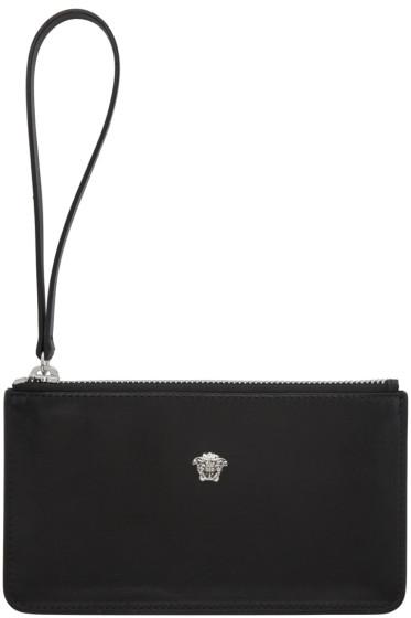 Versace - Black Leather Medusa Pouch