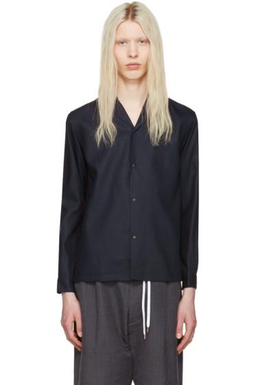 Sasquatchfabrix - Navy Notched Collar Shirt