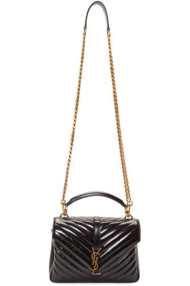 Saint Laurent - Black Medium Quilted College Bag