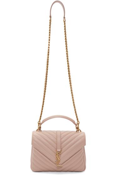 Saint Laurent - Pink Medium Monogram College Bag