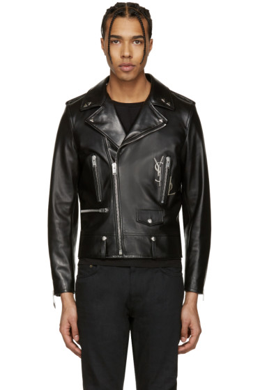 Saint Laurent - Black Classic Monogram Motorcycle Jacket