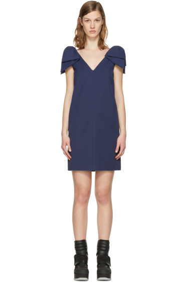 MSGM - Navy Bows Dress