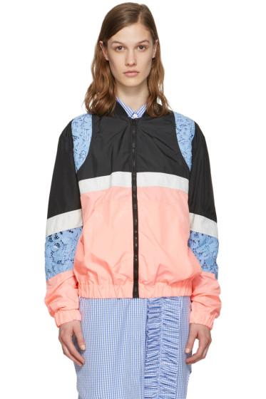 MSGM - Pink Nylon Bomber Jacket