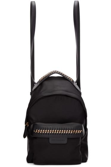 Stella McCartney - Black Mini Falabella GO Backpack