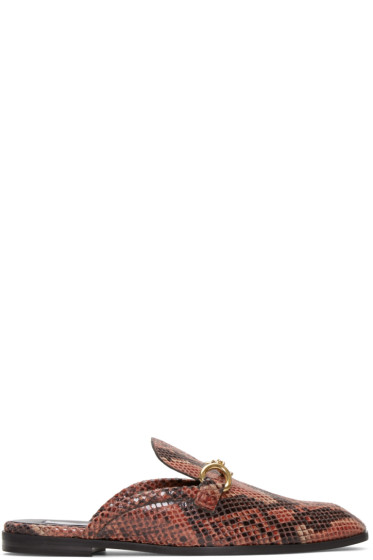 Stella McCartney - Red Tanka Slide Loafers