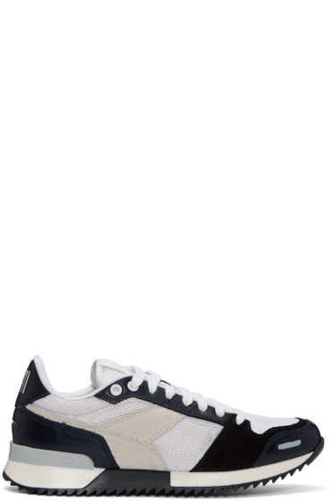 AMI Alexandre Mattiussi - Navy Running Sneakers