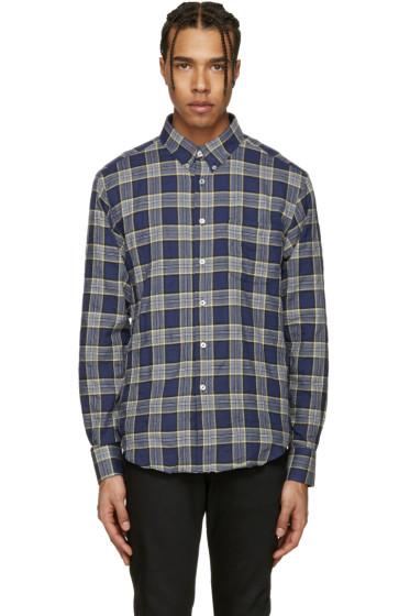 Naked & Famous Denim - Blue Herringbone Buffalo Check Shirt