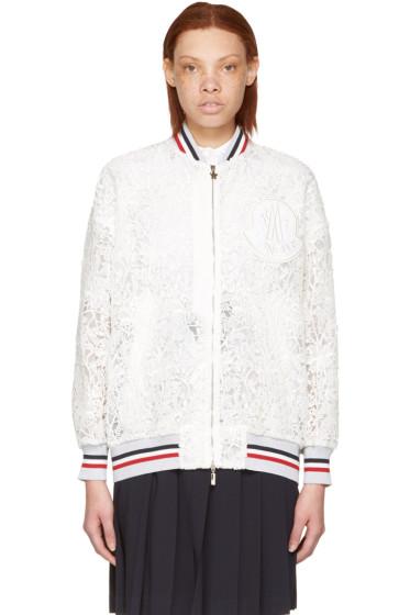 Moncler Gamme Rouge - White Lace Lauren Bomber Jacket