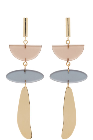 Isabel Marant - Gold & Brown Clear Earrings