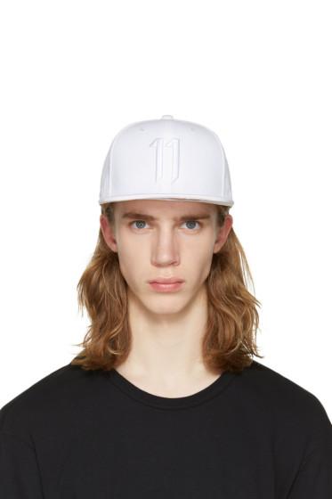 11 by Boris Bidjan Saberi - White Logo Snapback Cap