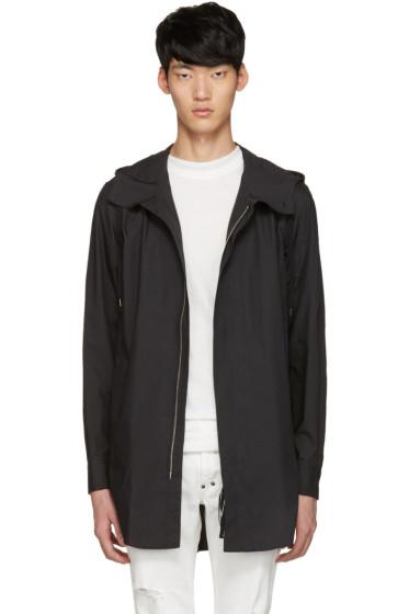 Diet Butcher Slim Skin - Black Long Hooded Shirt