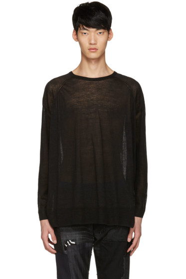 Diet Butcher Slim Skin - Black Oversized Pullover