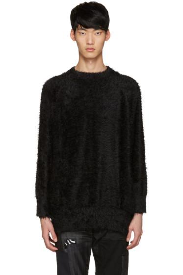 Diet Butcher Slim Skin - SSENSE Exclusive Black Shaggy Loose Pullover