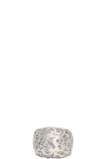 Pearls Before Swine - Silver Forged Square Ring