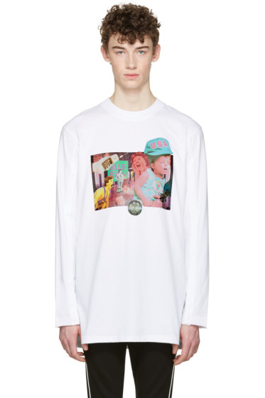 D by D - White Open Long Sleeve T-Shirt