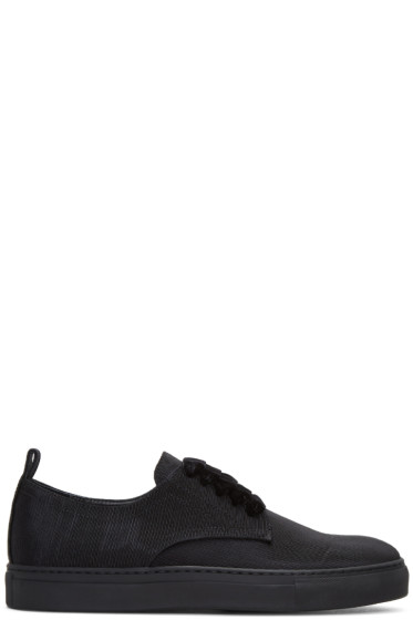 AD Ann Demeulemeester - Black Ribbed Textile Sneakers