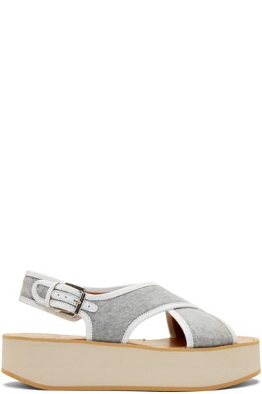 Flamingos - Grey Jersey Malabar Sandals