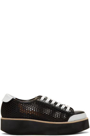 Flamingos - Black Mesh Tatum Sneakers