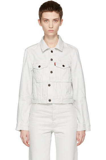 Vetements - White Levi's Edition Reworked Denim Jacket