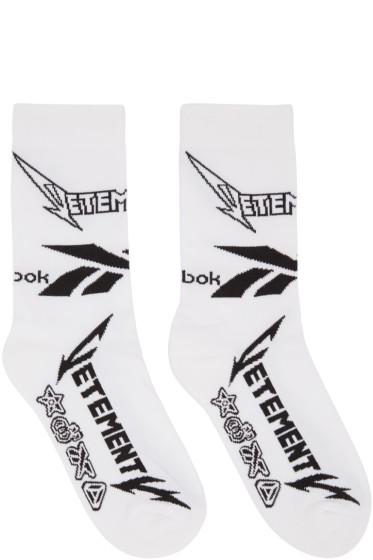 Vetements - White Reebok Edition Metal Socks
