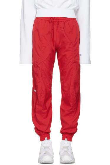 Vetements - Red Reebok Edition Biker Track Pants