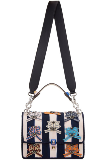 Fendi - Blue & Off-White Kan I Bag