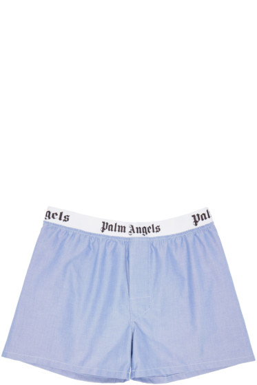 Palm Angels - Blue Oxford Boxers