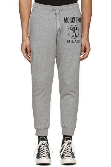 Moschino - Grey Logo Lounge Pants